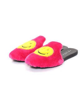 Smiley face mules
