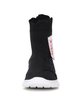 Destroyed appliqué sock sneakers