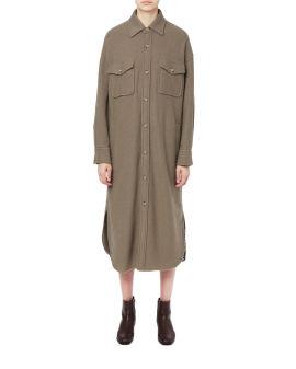 Patch pocket shirt coat