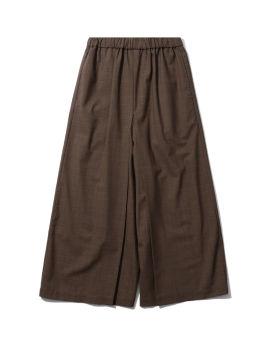 Check print wide leg pants