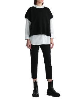 Shirred cropped pants