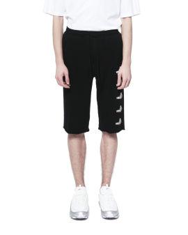 Raw hem logo shorts