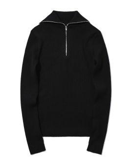 Rib-knit zipped sweater