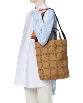 All-over logo tote bag