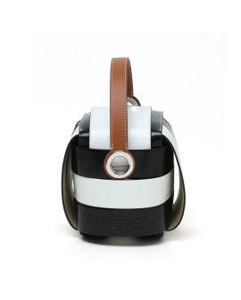 Panelled top handle bag