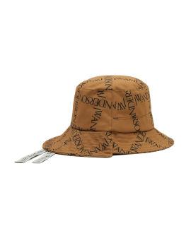 Logo print asymmetric bucket hat