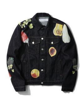 Veggie fruit trucker jacket