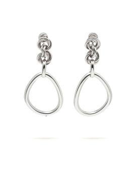 Oversized link chain earrings