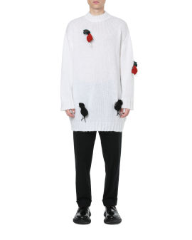 3D radish crew neck sweater