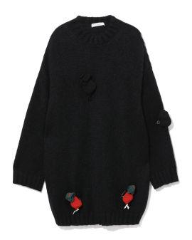 3D Radish embellished sweater