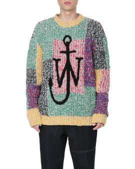 Anchor patchwork sweater