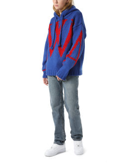 JWA intarsia chunky hoodie