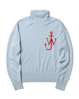 Anchor funnel neck sweater
