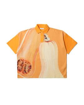 Oversized veggie polo shirt