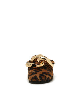 Cheetah chain loafers