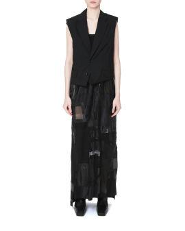 Deconstructed vest dress