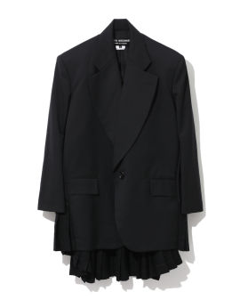 Oversized pleated blazer