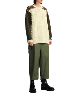 Panelled knit sweater
