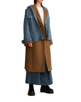 Hybrid denim jacket coat