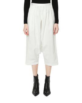 Drop-crotch cotton pants