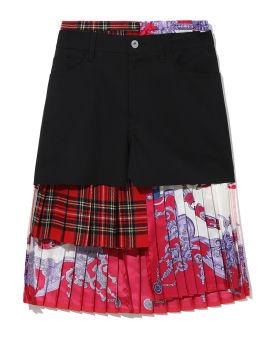Panelled pleated skirt