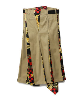 Belted combined skirt