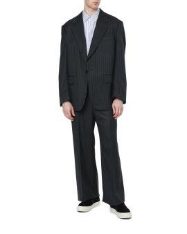 Panelled pinstripe blazer