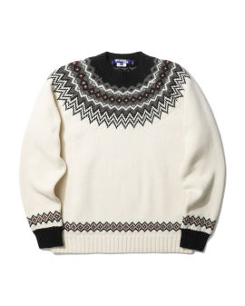 Patterned knit sweater