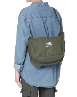 Embroidered logo shoulder bag