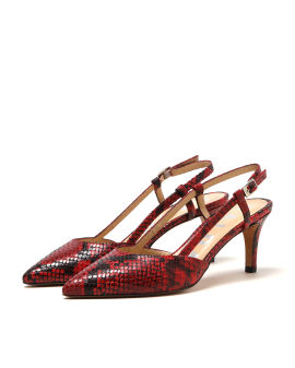 Ringi snake pattern heels