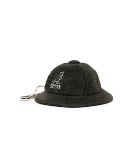 Logo corduroy bucket hat keychain