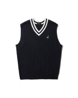 Logo knit vest