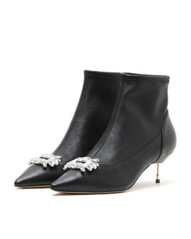 Bellevue leather heeled boots