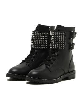 Seth studded biker boots