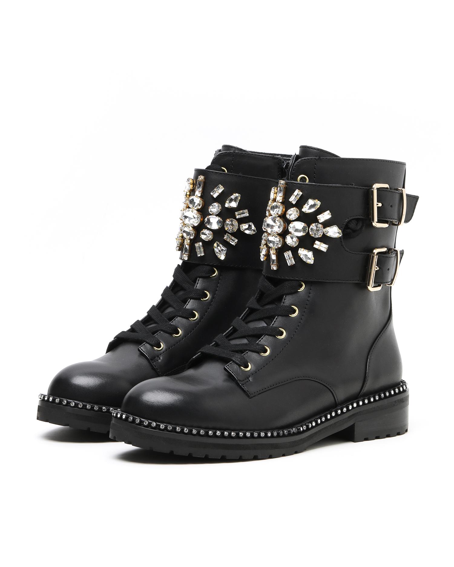 Stoop Crystal Embellished Boots