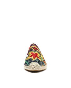 Kira crochet embroidered mules