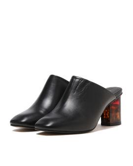 Stride heeled mules