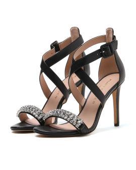 Gem embellished strappy heels