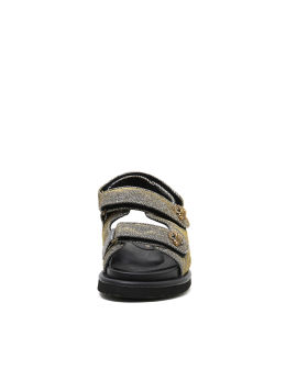 Orson metallic quilted sandals