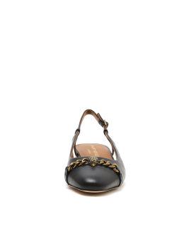 Omera embellished slingback leather mules