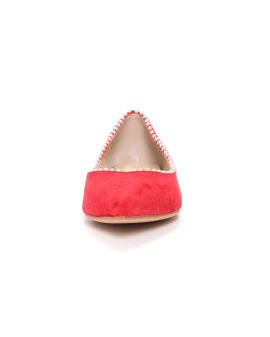 Faux pearl-embellished flats
