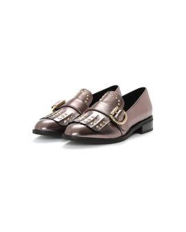 Metal-embellished loafers