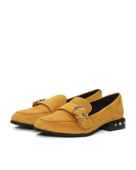 Studded heel loafers