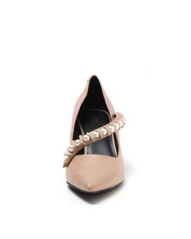 Embellished strap heels
