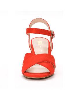 Crisscross strap high heel sandals