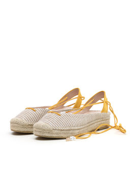 Lace-up espradrille flats