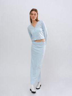 Strap detail skirt