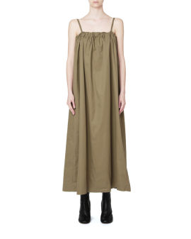 Tie-back gathered dress