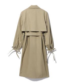 Point collar coat