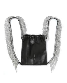 Crystal fringe backpack